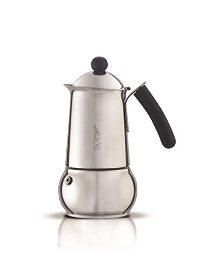 Bialetti Class Induktion Espresso Maker for 10 Cups, Stainless Steel, Silver, 30 x 20 x 15 cm