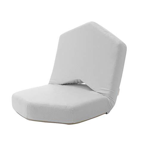セルタン 日本製 低反発 座椅子 METO ウォームグレー 背部リクライニング A897a-647GRY