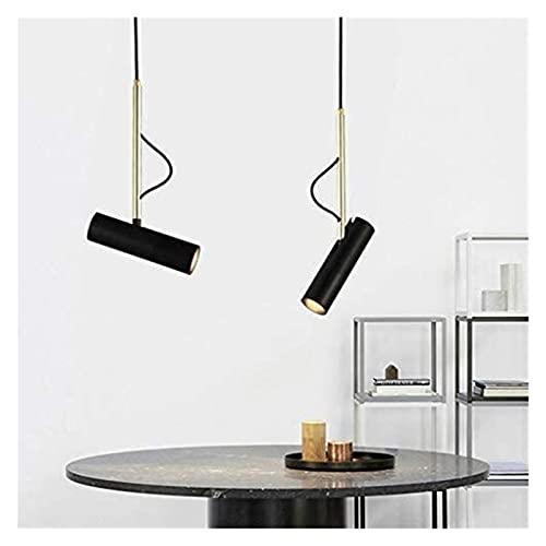 Lámpara de techo LED 5W Candelabro Creativo Candelabro negro Sala de estar Comedor Comedor Dormitorio Sala de estudio Lámpara de techo Moderno Hierro Aluminio Candelabro decorativo D5.5cm * H20cm