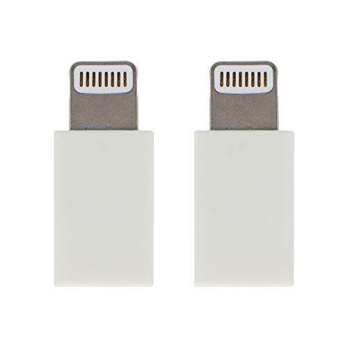 VisionTek Micro USB to Lightning Adapter – 2 Pack – MFi Certified Adapter for iPhone, Ipad, iPod and AirPods. Compatible with iPhone 12/12 Pro/12 Pro Max/XS/XS Max and Airpods/AirPods Pro