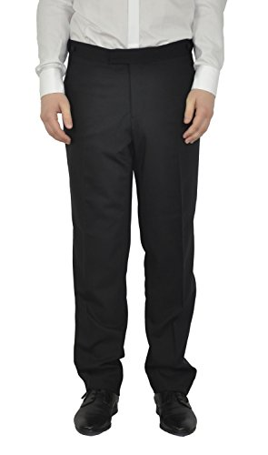 Michaelax-Fashion-Trade Masterhand - Comfort Fit - Festliche Herren Frack Hose aus Reiner Schurwolle in Schwarz, 900 8001 (Cort), Größe:110;Farbe:Schwarz (00)