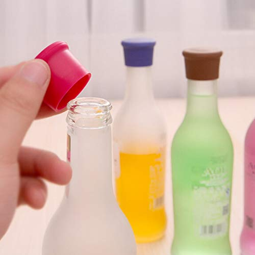Diseño de Moda 10 PCS Color Caramelo Silicona Vino Cerveza Condimentos Tapón de Botella Entrega de Color Aleatorio