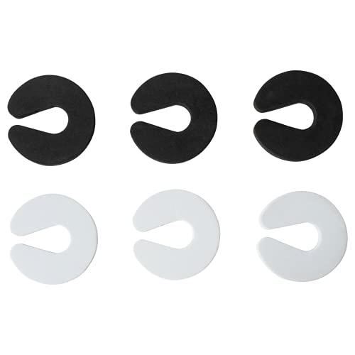 HappyHour Schaumstoff Türstopper, Klemmschutz für Türen, Türstopper für Kinder und Haustiere, 6 Stück Türstopper Schaumstoff, mit 2 Stück Türklinkenpuffer, schwarz, Weiß.