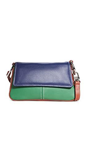STAUD Women's Tia Convertible Shoulder Bag, Rust/Clover/Twilight, Blue, Green, One Size