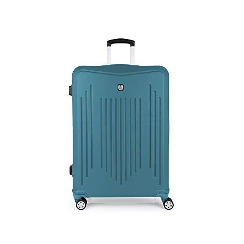 Gabol - Clever | Maletas de Viaje Grandes Rigidas de 53 x 76 x 30 cm con Capacidad para 100 L de Color Turquesa
