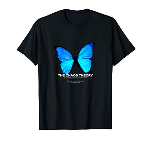 THE CHAOS THEORY BLAU SCHMETTERLING BUTTERFLY BLUE T-Shirt