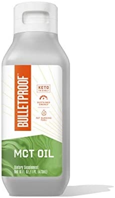 MCT Oil Made with C10 and C8 MCT Oil, Flavorless, 14g MCTs, 32 Fl Oz Bulletproof XCT Keto Supplement for Sustained Energy, Appetite Control, Mental & Physical Energy, Non-GMO, Vegan & Cruelty Free