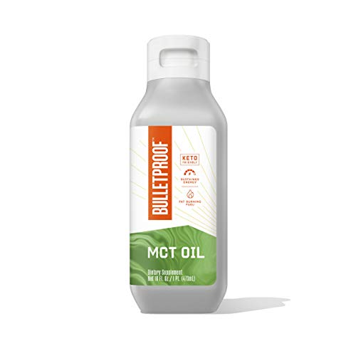 XCT MCT Oil Made with C10 and C8 MCT Oil, Flavorless, 14g MCTs, 16 Fl Oz Bulletproof Keto Supplement for Sustained Energy, Appetite Control, Mental & Physical Energy, Non-GMO, Vegan & Cruelty Free
