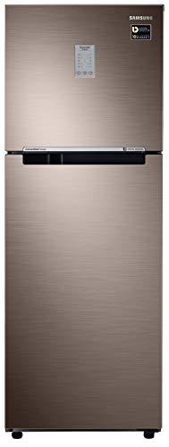 Samsung 253 L 2 Star Inverter Frost-Free Double Door Refrigerator (RT28T3722DX/NL, Luxe Brown, Convertible)