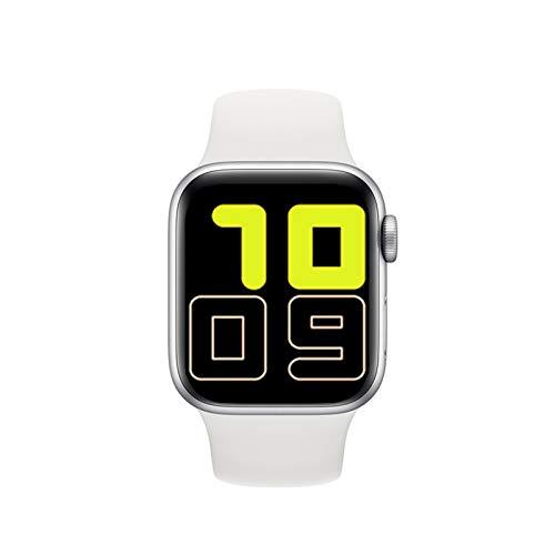 GYY Smart Watch Hombres Mujeres Monitor De Presión Arterial Monitor Táctil Inteligente Smart Reloj SmartWatch Relojes para Apple Android Phone PK IWO 13 (Color : White)