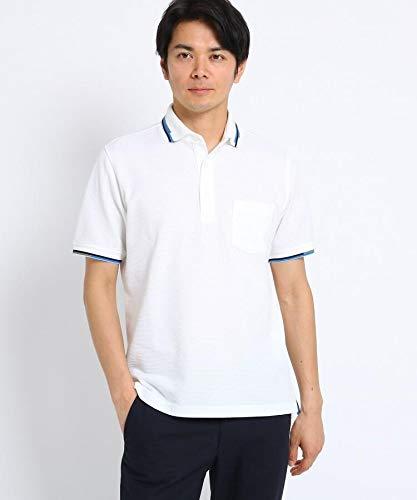 (タケオキクチ) TAKEO KIKUCHI ランダムボーダー衿ポロシャツ 07036076 01(S) ホワイト(001)