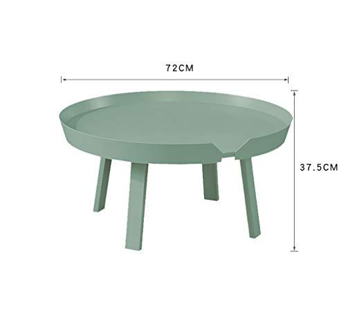 YWXCJ Tables Basses Table de Salon Simple Nordique Petit Appartement canapé Coin Fer forgé Table Ronde Moderne Balcon créatif Petite Table de café (Couleur : Green)