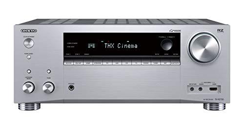 Onkyo TX-RZ730(S) 9.2 Kanal AV Receiver (THX Kinoklang, 175 W/Kanal, Multiroom, Dolby/DTS:X, WLAN, Bluetooth, Streaming, Musik Apps, Spotify, Tidal, Deezer, Internetradio), Silber