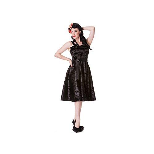 Light Bunny - tattoo flock jurk rockabilly jurk zwaluwen zwart zonder petticoat (XS-XL)
