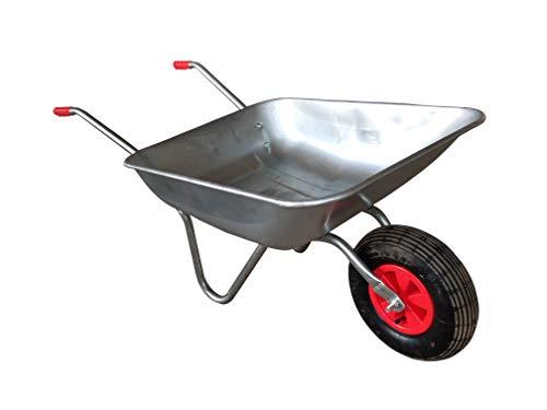 Maxx Brouette de chantier - Remorque Chariot Transport - 120kg - Métal Galvanisé - 80 L