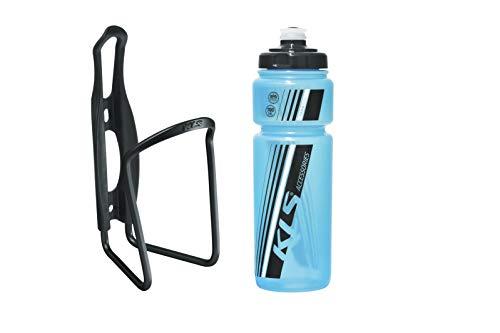 Kellys Fahrrad Trinkflaschenhalter Set Caliber + Trinkflasche 0,7 Sport, Namib Schwarz, grün, Blau, Gelb, Weiss, Farbe:Namib-Sky-Blue