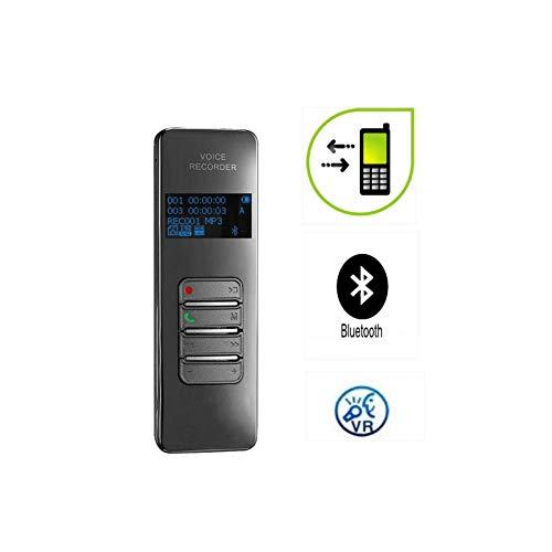 QLPP Grabadora de Voz Digital inalámbrica Bluetooth, grabadora de Sonido Compatible con grabación de Llamadas telefónicas, función de protección con contraseña, activada por Voz