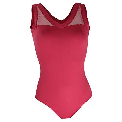 Intermezzo Damen Ballett Body/Trikot 31416 Bodyuvered - Farbe: Burgund (028) - Größe: M