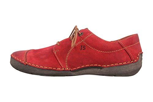 Josef Seibel Damen Schnürhalbschuhe Fergey 20, Frauen sportlicher Schnürer, Women's Woman Freizeit leger schnürschuh Sneaker,Rot,37 EU / 4 UK