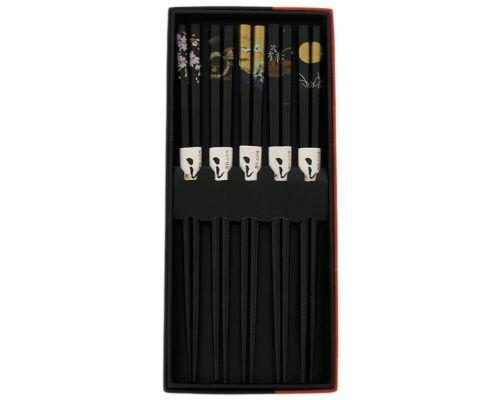 Japanese Chopsticks 5 Pair Set Dining Table Starter Kit Beautiful Gift Item...