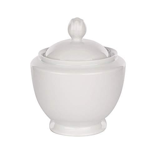 Kaffeeservice Tassen mit Untertassen MARIAPAULA Porzellan Chodziez Weiß (Zuckerdose 330 ml)