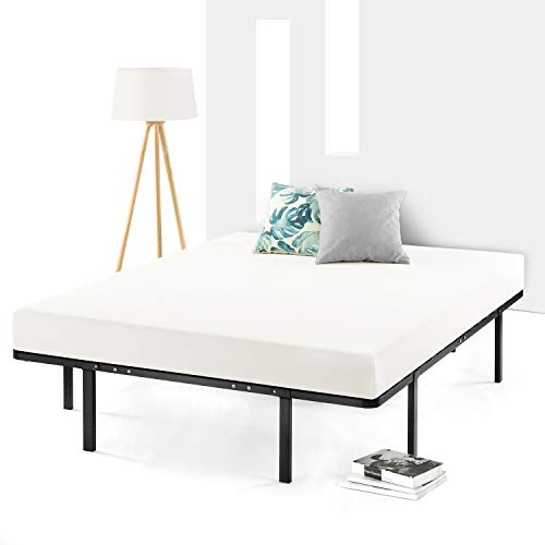 Best Price Mattress Low Profile Bi Heavy Duty Box Spring/Folding Mattress Foundation (No Assembly Required), Full Size, Black