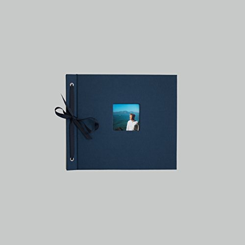 KOLO, Newbury Refillable Scrapbook, Navy Cover, White Pages, 9 x 10 inches (100-3021)