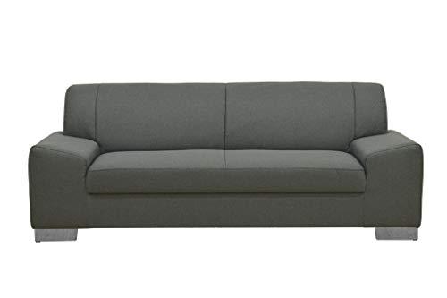 Domo Collection Alisson Couch | 3-Sitzer Sofa, 3er Garnitur, grau