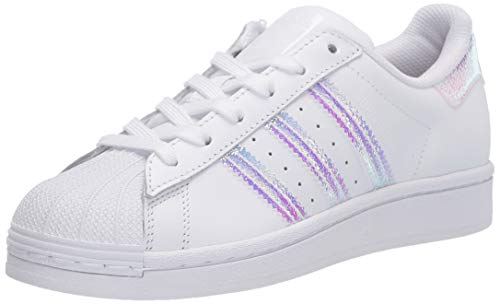 adidas Originals Superstar - Zapatillas unisex para niños, color Blanco, talla 3.5 Big Kid