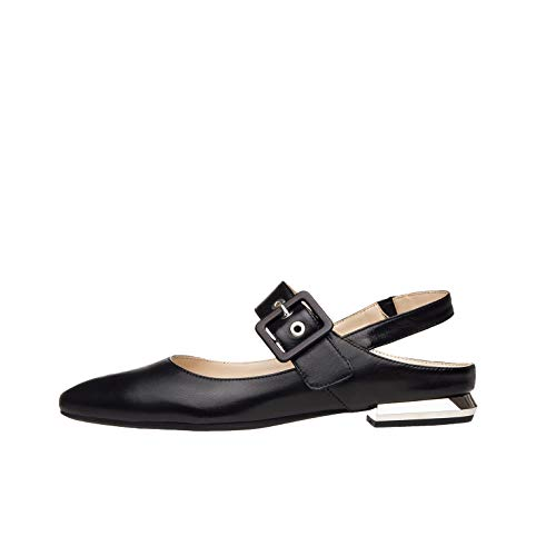 NeroGiardini E012032DE Zapatos De Salón Mujer De Piel - Negro 35 EU