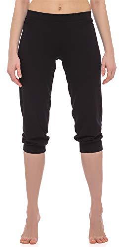 Merry Style Damskie Spodnie z Wiskozy 3/4 na Fitness MS10-261 (Czarny, XXL)