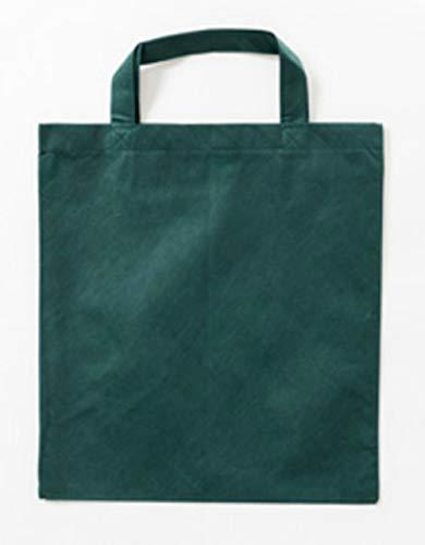 20 x Vliestasche (PP-Tasche) 2 Kurze Henkel 38x42cm Non-Woven Bags (dunkelgrün)