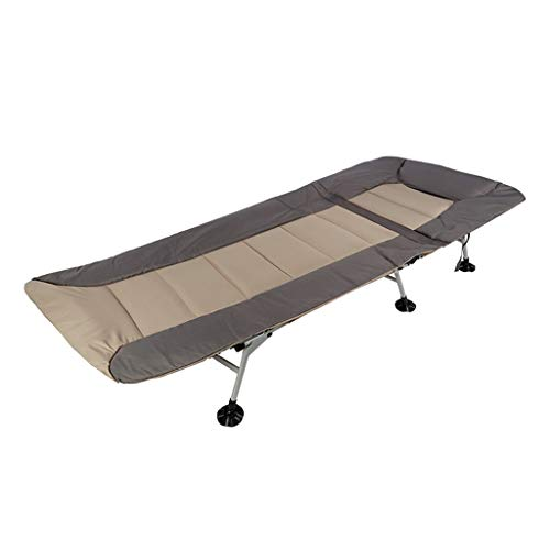 UCYG Cama Canapé Abatible Plegable para Invitados,Armadura De Metal Butaca Sofa con Colchón 1 Plazas para Camping Piscina Jardín, Carga De 160 Kg, 205x81x45cm (Color : Brown)
