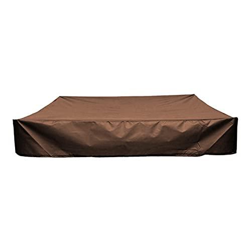 로얄 탑 59X59 인치 모래 구덩이 커버 방수 모래 구덩이 커버 모래 구덩이 타포린 모래 구덩이 커버 방수 모래 구덩이 수영장 커버 장난감 (색상 : 갈색)