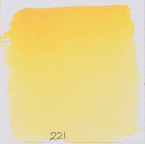 Schmincke 14221044 Watercolor Pans, Jaune Brilliant Dark, Half Pan