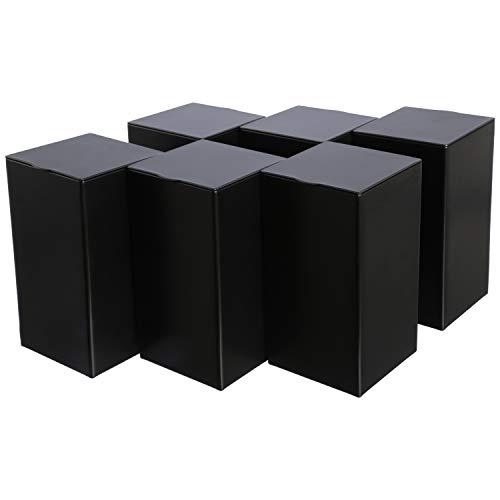 Dosenritter | 6 x eckige Vorratsdose/Teedose, luftdicht aus Metall für ca. je 170g | 12.2 x 6.5 x 6.5 cm (H,B,T) | auch ideal als Kaffee- oder Gewürzdose