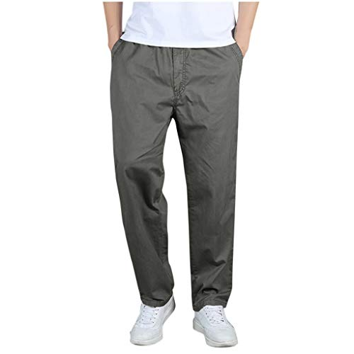 ZODOF Pantalones de Hombre Casual Moda Suelto Al Aire Libre Deportes Mono Pantalones Largos Pantalones Pantalones de Lino para Hombre de Trabajo Pantalon de Running(M,Ejercito Verde)