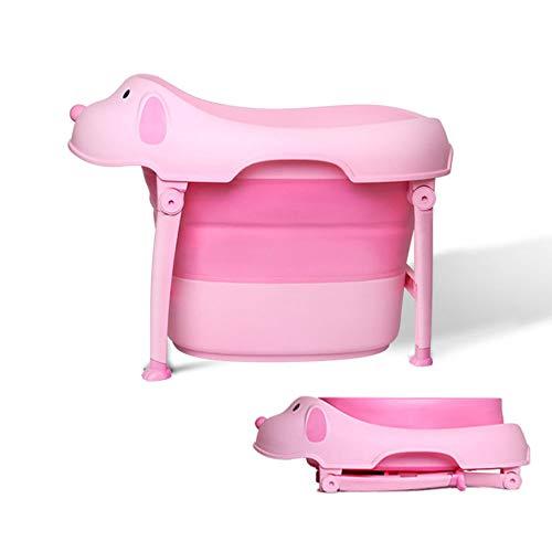 LYN&xxx Baby-Badewanne mit Drain, Kinderbadefass große Babywanne Fass Infant Notdusche Slide Klappschutz Komfortabler