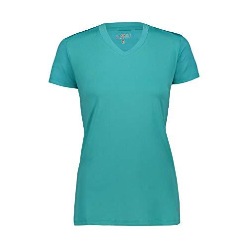 CMP – F.LLI Campagnolo Damen Stretch Striped Mesh T-Shirt, Ceramic, D44