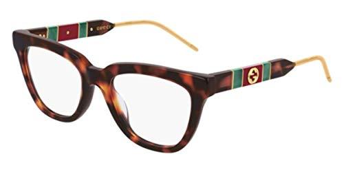 montatura occhiali da vista donna gucci Gucci Occhiali da Vista GG0601O DARK HAVANA 50/19/145 donna