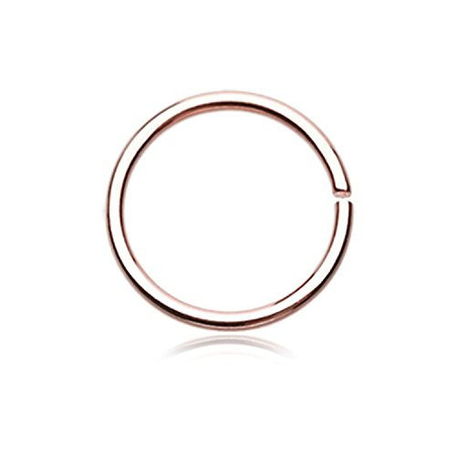 EG GIFTS Bendable Rose Gold Annealed Hoop (20G-3/8)