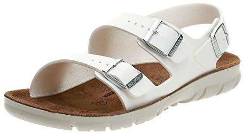 BIRKENSTOCK Women's Ankle Strap Sandals, White, 11-11.5