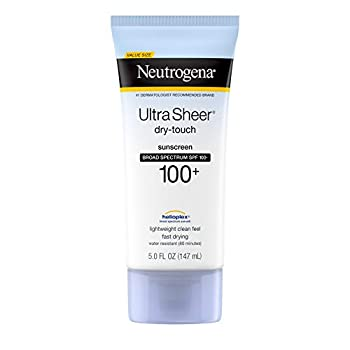 Neutrogena Ultra Sheer Dry-Touch Sunscreen Lotion Broad Spectrum SPF 100 UVA/UVB Protection Lightweight Water Resistant Non-Comedogenic & Non-Greasy 5 fl oz