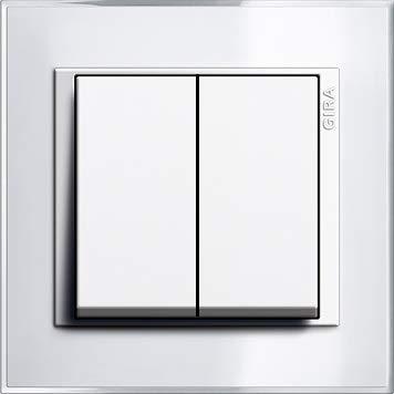 GIRA EVENT KLAR Weiß Komplett-Sets - Reinweiß GLÄNZEND System 55 (1x Serienschalter, 1x Rahmen 1f, 1x Wippe Serie)