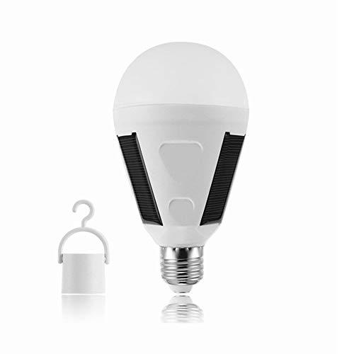 Zelt-Licht, Notbirne Im Freien E27 LED Mit Solarpanel, 800Ma 6500K Tragbares Licht Für Camping, Wandern, Angeln, Erste Hilfe