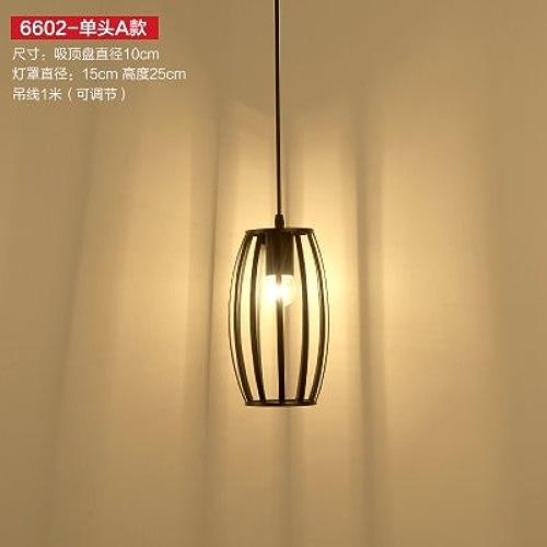 Kang @ Américains Village Rétro Industrial Vent Suspension Leuchten et créativité longue Lanterne Single Head A9W