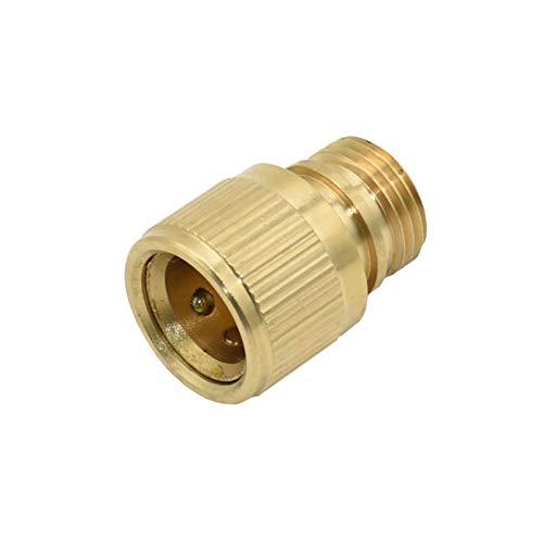 Conectores De Manguera Hilo masculino 1/2 pulgada Jardín femenino Conector rápido Conector de latón Conector G1 / 2 Pistola de agua Conexión de cobre Lavado de autos 10pcs (Color : 1I2 male)