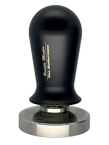 scarlet espresso | gekalibreerde Tamper »Perfetto« voor Barista - met persoonlijke naamlaser in de greep 41 mm zwart