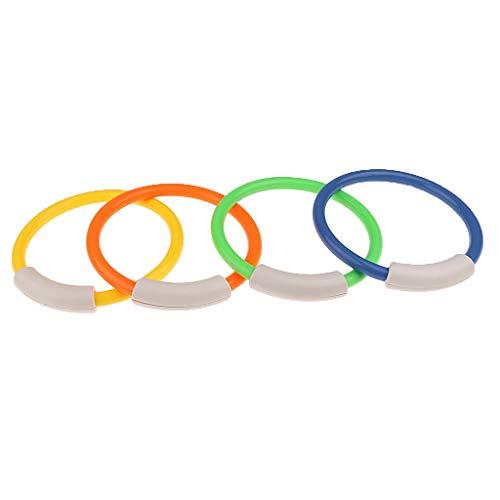 MMI-LX 4pcs Piscina subacuática Zambullida Anillos + 6 Piezas de Buceo Buceo Sticks Juego Juguetes Piscina Accesorios Deportes Diver Buceo y natación (Color : Multi-Colored)