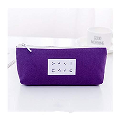 1 unids lápiz caja oficina papelería hoja regalo estuchos suministros escolares de alta capacidad Material de lienzo Bolsa de lápiz (Color : B3)